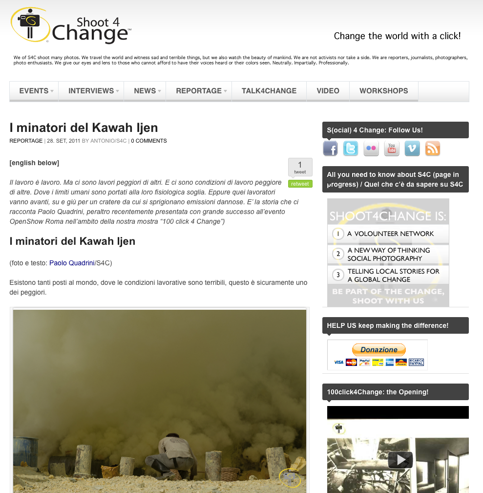 shoot4change.net – i minatori del Kawah Ijen