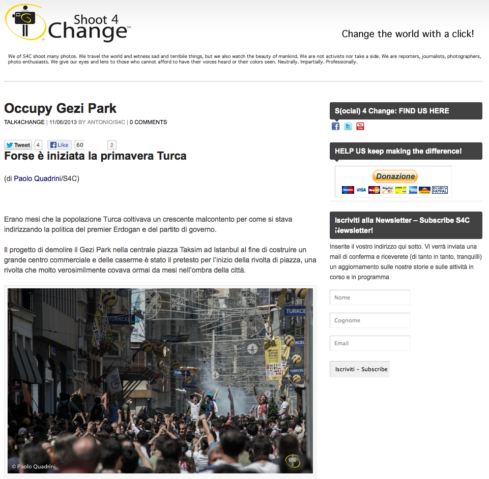 shoot4change.net - Istanbul - Occupy Gezi Park