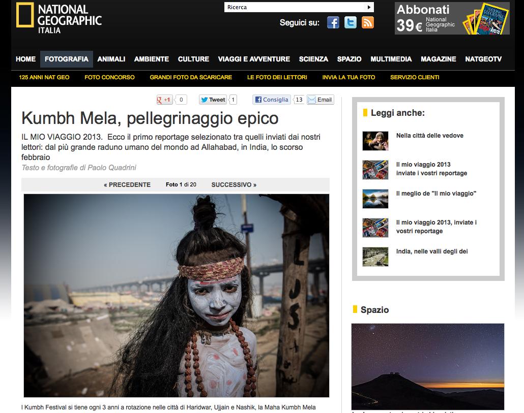 National Geographic - Kumbh Mela, pellegrinaggio epico